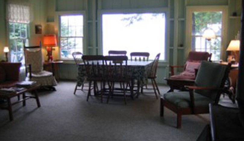 Open living and dining room