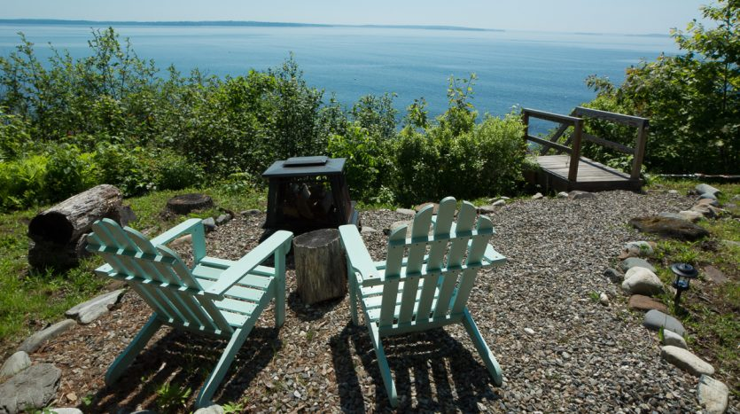 Seaside firepit and seating