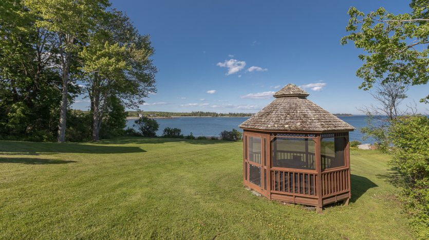 Private screened gazebo