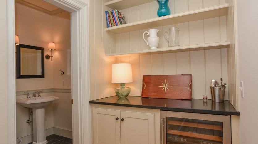 Pantry and powder room