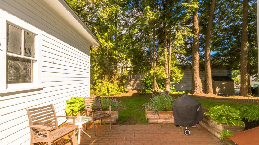 Back patio and shared grill