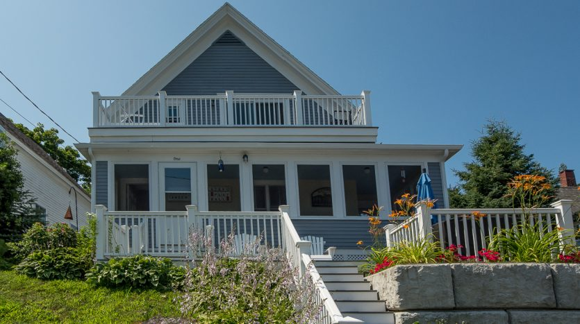 Alden House with new second story deck