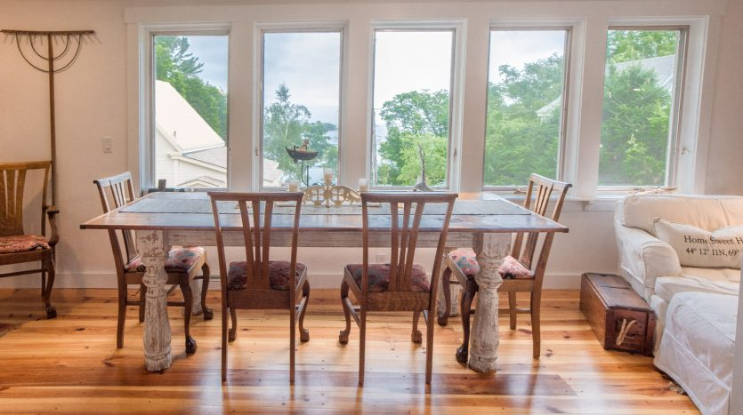 Dining area with spectacular bay views