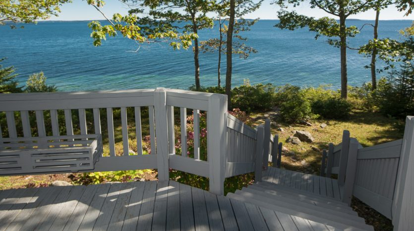 View of Penobscot Bay from spacious deck