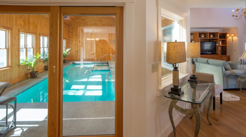 Pool room adjacent to great room
