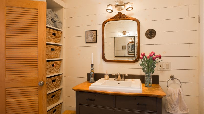 Bathroom sink and storage