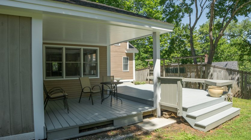 Sheltered porch and open deck