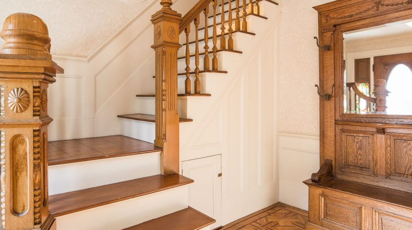 Front hallway and stairs
