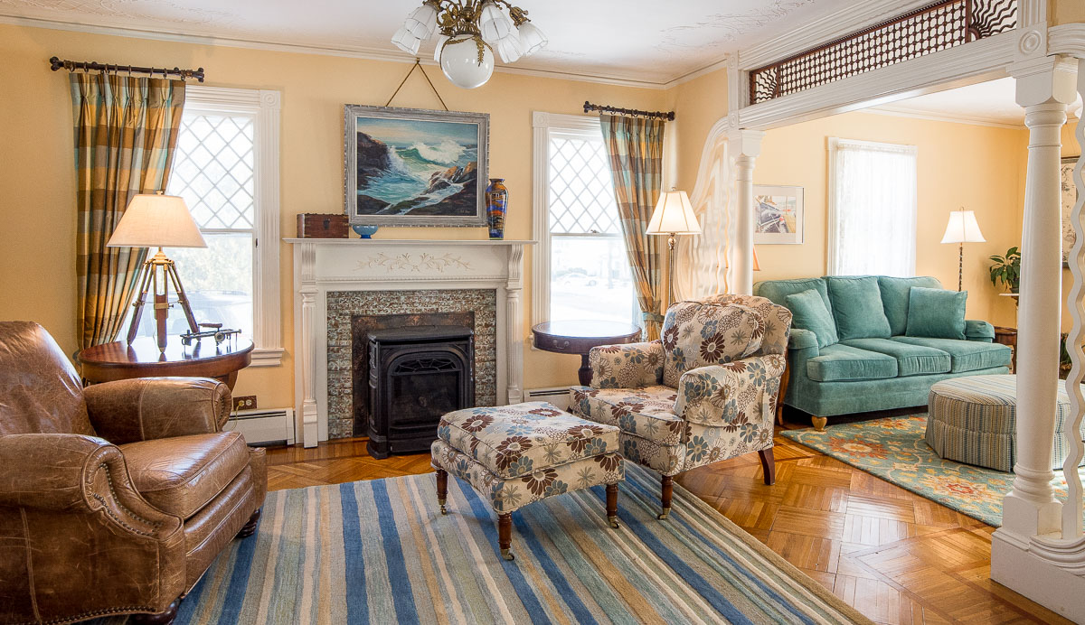Parlor into living room